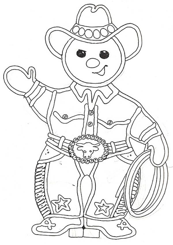 The Gingerbread Cowboy Coloring Page