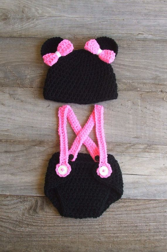 Mickey Mouse Inspired Diaper Cover & Hat Set by KreativeKroshay, $37.50