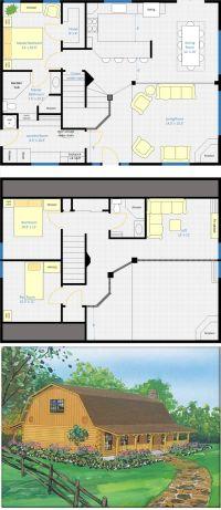 Best 25+ Barn House Plans ideas on Pinterest   Pole barn ...