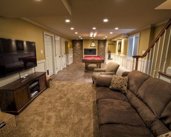 Basement Design Ideas For Long Narrow Living Rooms Design