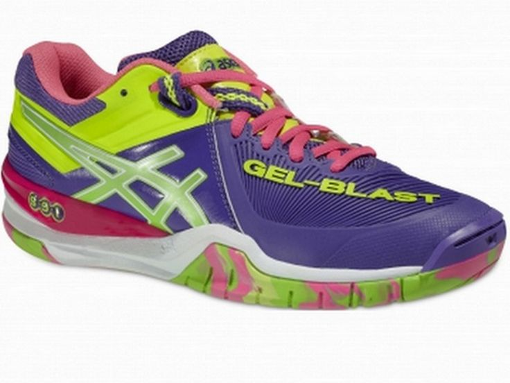 chaussures asics gel blast femme violettes sport time