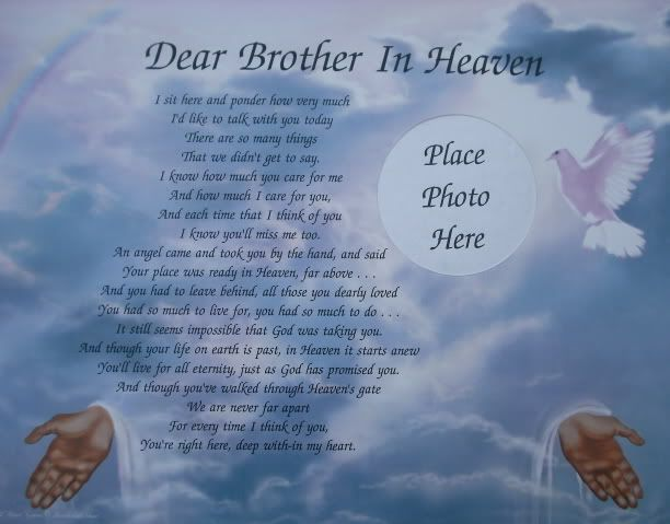 Dear Brother In Heaven Free Ecards Pinterest Dads Sister Poems And Mom