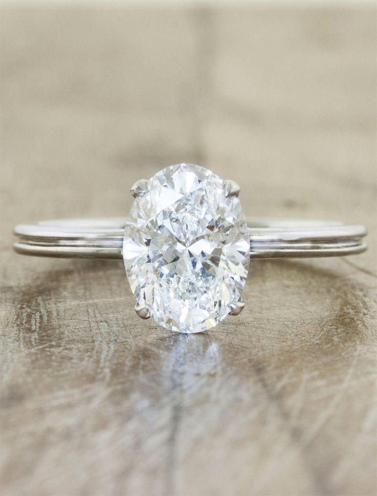 Oval diamond double band engagement ring  Beautiful