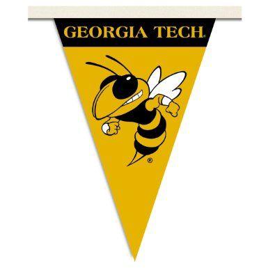 Georgia Tech Party Pennant FlagsBanner 1632 Ramblin