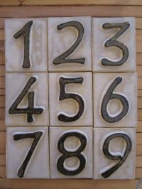 10 best images about House numbers on Pinterest | Ceramics ...