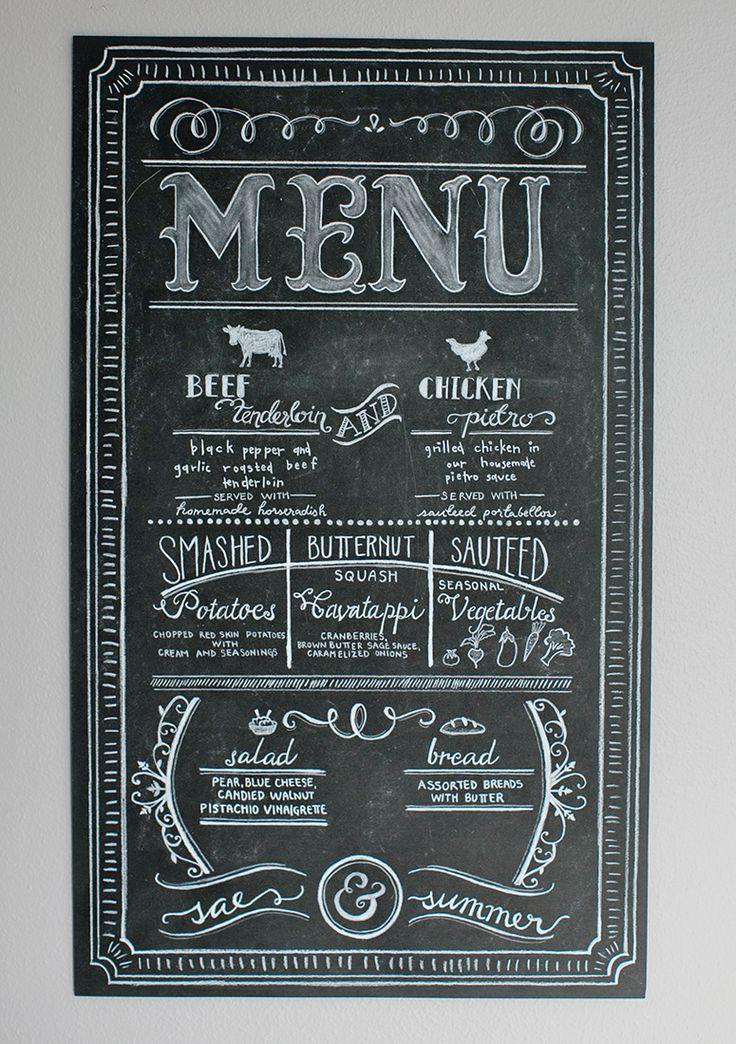 25+ best ideas about Chalk menu on Pinterest