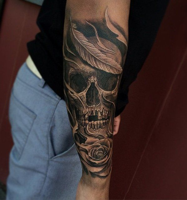 awesome skull tattoo design