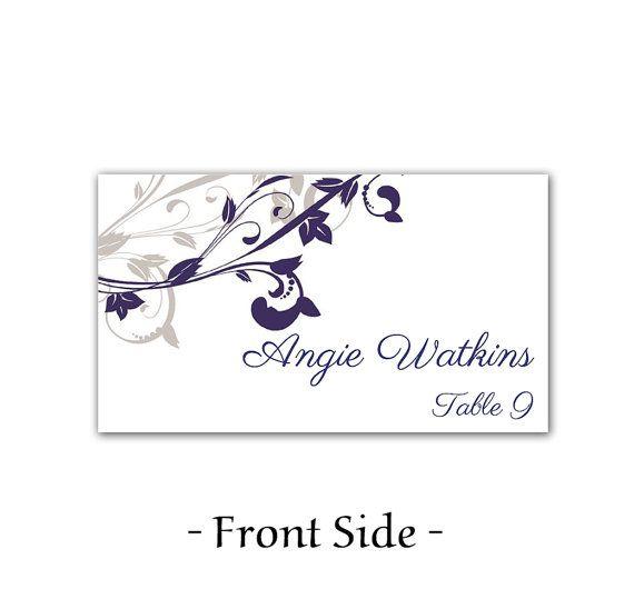 Wedding Place Card Template Printable Escort Card Template