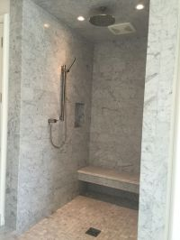 large shower without doors. atl holiday home.