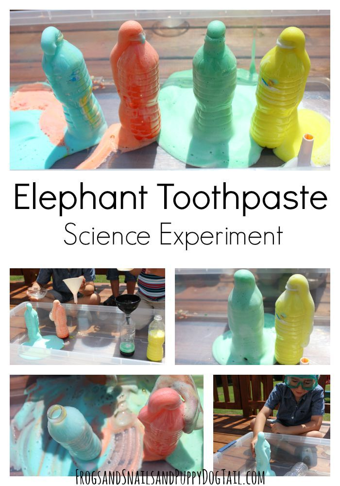 Elephant Toothpaste Experiment  Science experiment for