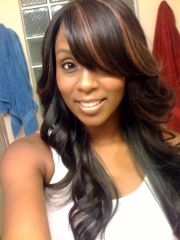 pretty full sew in with swoop bang