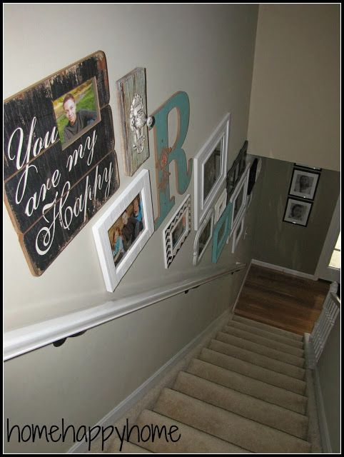 25+ best ideas about Staircase Wall Decor on Pinterest
