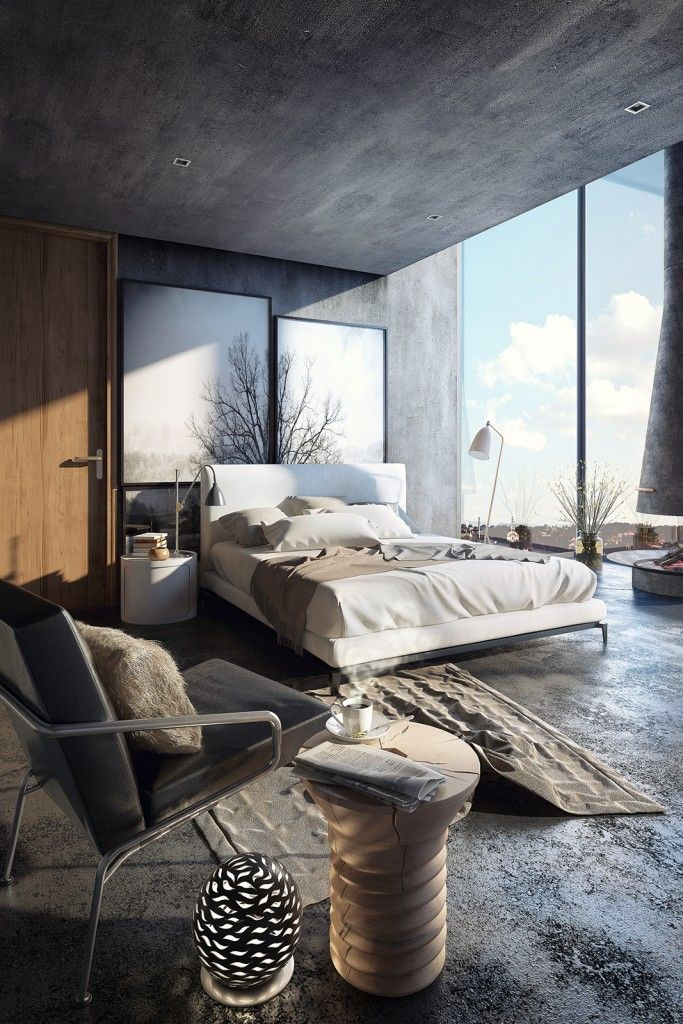 Small Bedroom With Minotti Furniture Architectural