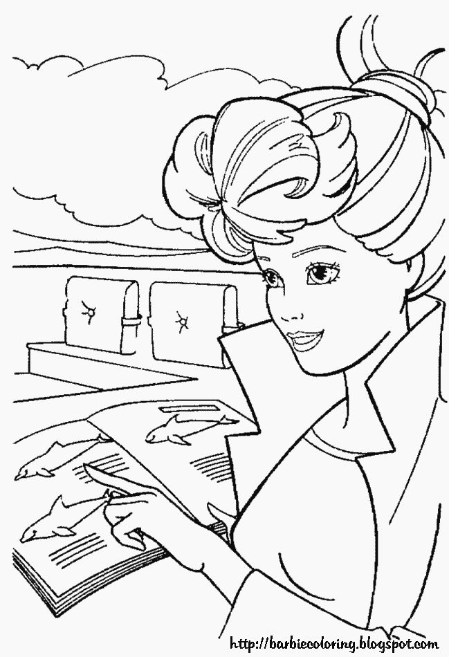 17 Best images about BARBIE COLORING PAGES on Pinterest