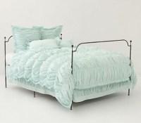 ANTHROPOLOGIE Bed Skirt CIRRUS duvet bedding TWIN ocean ...