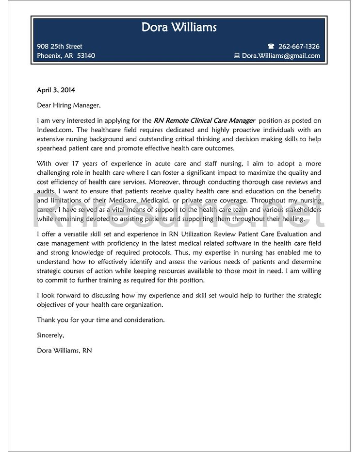 Generic Rn Cover Letter   Best Kijing