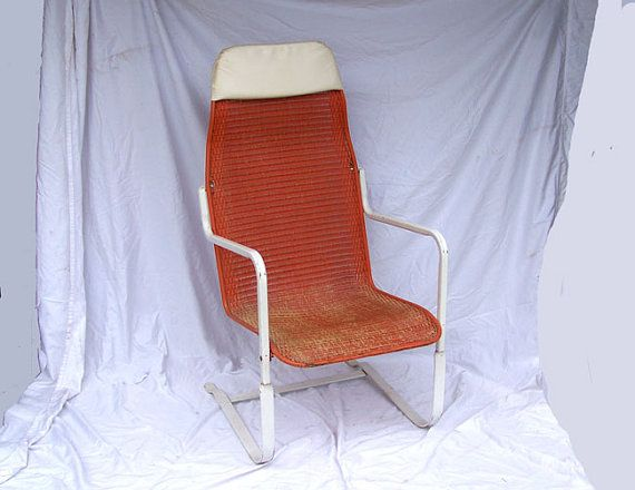 Reserved for Steve Hoffmann Retro orange patio chair