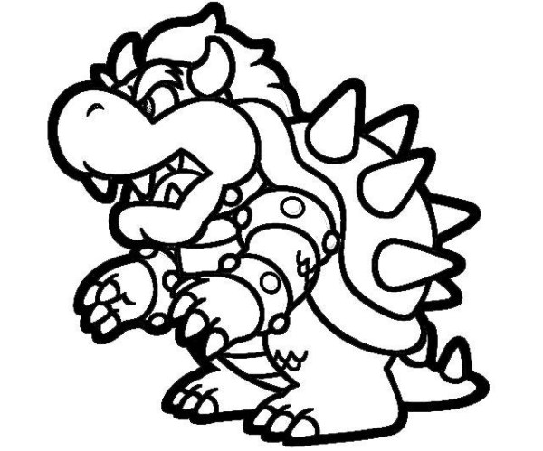 20 Bowser Mario Clip Art Black And White Ideas And Designs