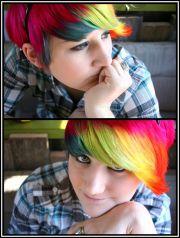 1000 rainbow hair