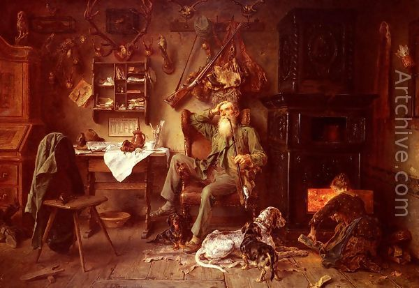 Ludwig Knaus  A Forester at Home  Favorite Paintings