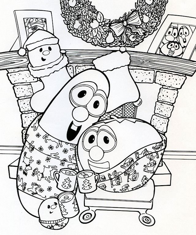 17 Best images about Still Love to Color-Veggie Tales on