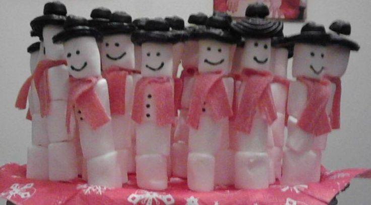 Marshmallow Snowman Sneeuwpop Traktatie Traktaties