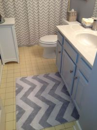yellow and gray chevron bathroom rug  Roselawnlutheran