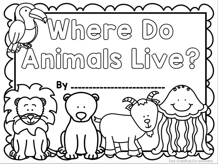 Animal Habitats {Printable book, sorting worksheets
