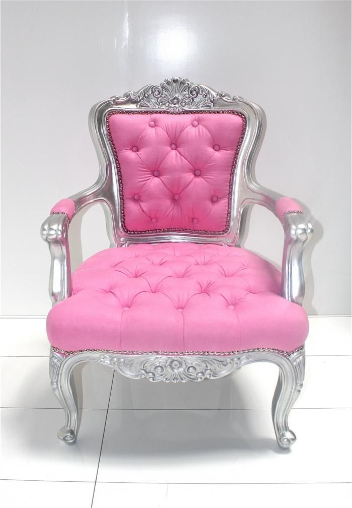 SilverPink Tufted Chair  Playing House  Pinterest