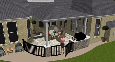 Possible patio cover idea for my inside corner  Backyard Ideas  Pinterest  Patio builders