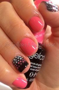 GlitterNailArtist| bright pink nails, polka dots, fun ...