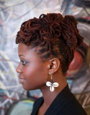 natural locs hair updos - google