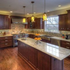 Raised Panel Kitchen Cabinets Flooring Home Depot Knotty Alder Stained Design, Pictures ...