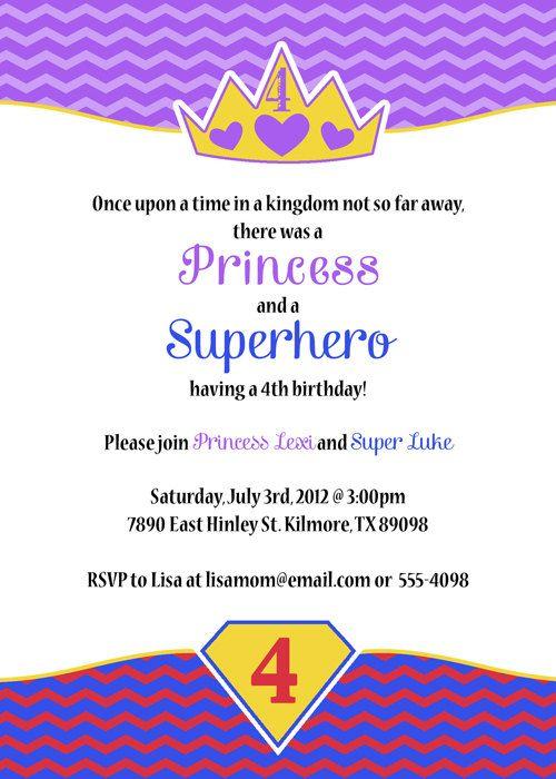 girl superhero invitations