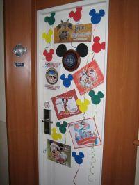 Stateroom door decorations~ I like the Mickey Balloons ...