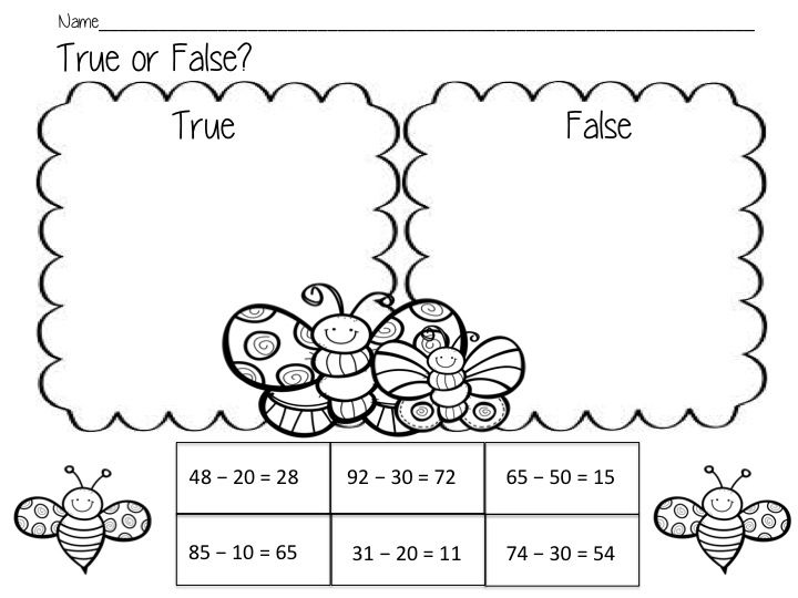 Cut and paste worksheets to introduce double digit