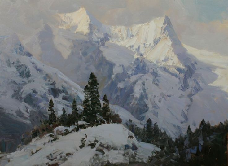 335 Best Images About Painting : Mountains On Pinterest