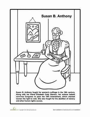 Susan b anthony, Worksheets and Susan anthony on Pinterest