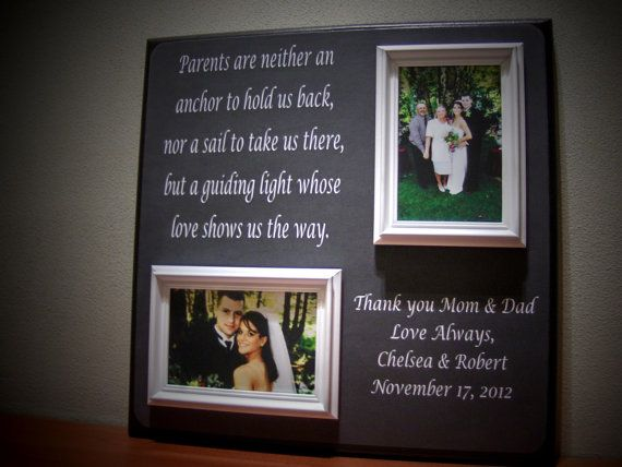 Parents Wedding Gift Father Of Mother Of By