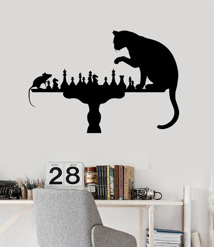 One Piece Quote Wallpaper Reddit Home Decoration Wall Vinyl Decal Funny Chess Cat Mouse Art