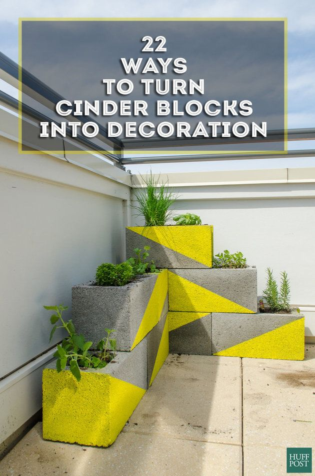 Turn Boring Cinder Blocks Into Pretty Home Decoration With