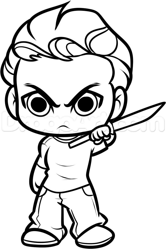 how to draw chibi glenn from the walking dead step 11