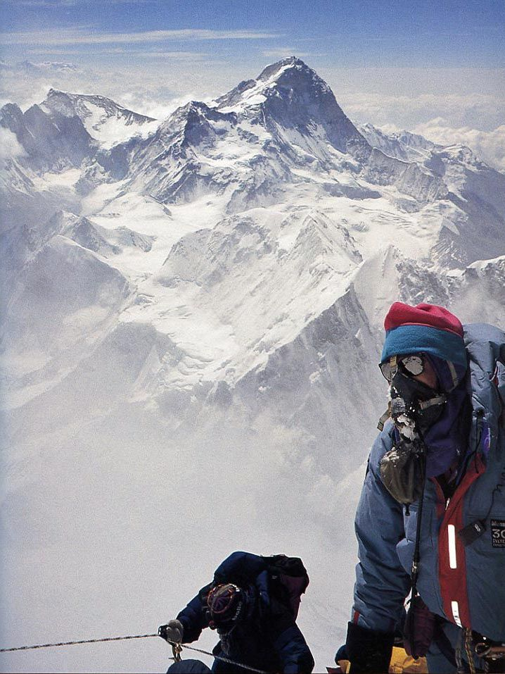 Rob Hall Near Everest South Summit With Makalu Behind 1995