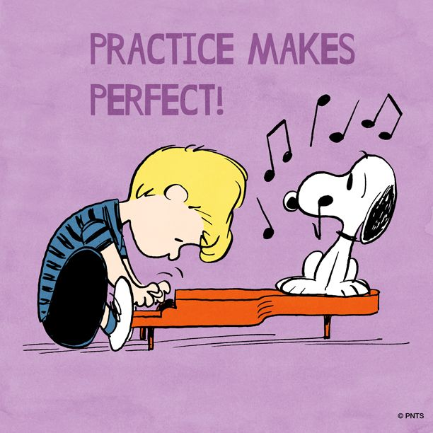 Practice makes perfect. | Peanuts Shareables | Pinterest ...