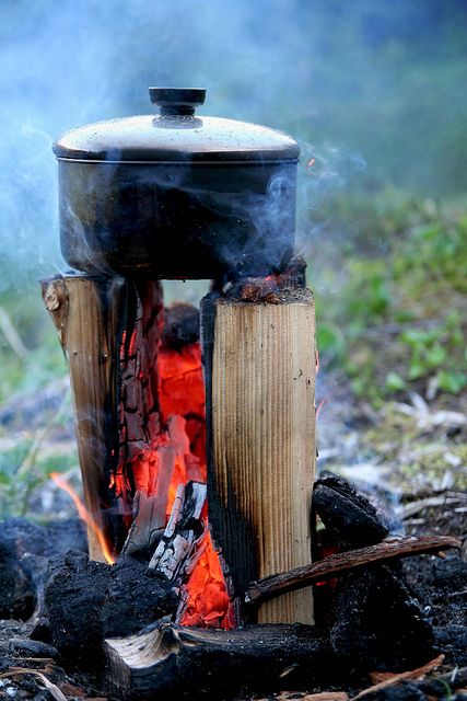 Such a unique way to make a campfire!