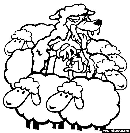 100% Free Aesops Fables Coloring Pages. Color in this