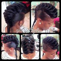 Black hair fishtail style.   Braids braids braids ...