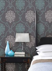 turquoise blue and with bedroom decor idea with a feature ...