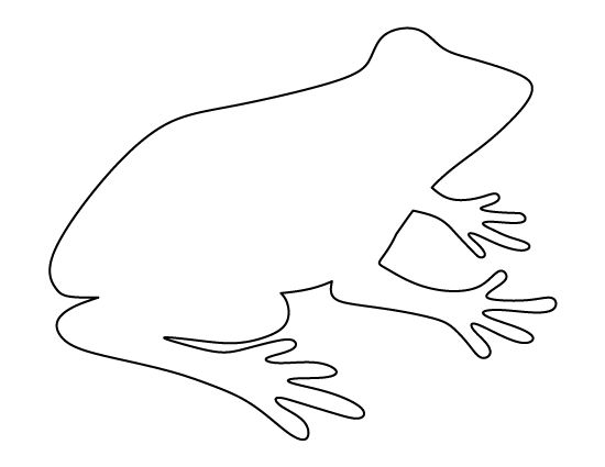 Printable frog pattern. Use the pattern for crafts