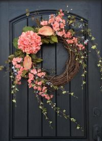 Spring Wreath Summer Wreath Floral White Green Branches ...